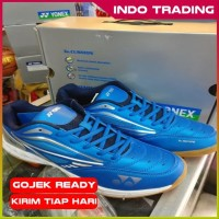 Sepatu Badminton Yonex Court Ace Tough Blue Navy Silver Original