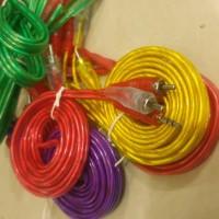 Kabel Audio RCA 2x1 Transparant Tembaga Asli