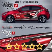 ERC Stiker Mobil Keren 3M Decal Sticker Cutting Racing Quality Mangele