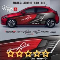 ERC Cutting 3M Decal Stiker Mobil Keren Sticker Racing Quality Mangele