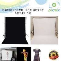 Background Foto dan Video 3m x 2m Bahan Non woven - Putih