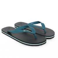 Sandal Panama / Sendal Jepit Pria Hitam Hijau Tosca / Sendal Pantai