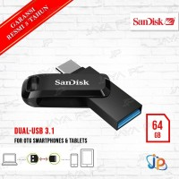 FlashDisk Sandisk Ultra GO OTG Type-C 64GB - Flash Disk 64 GB USB 3.1