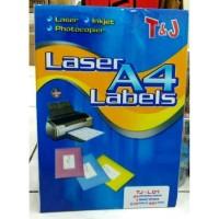 [ PACK ] Laser Labels A4 T&J / Sticker Label A4 TJ-L.01