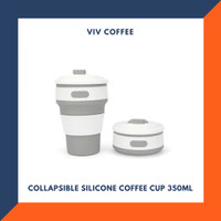Gelas Silicone Foldable - Travel Coffee Cup - Gelas Lipat Karet