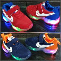 Sepatu anak lampu LED sz 27-31 sepatu olahraga anak laki laki nikee