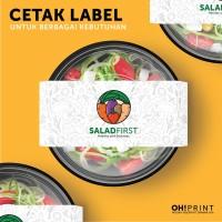 Cetak Label Kertas Makanan Bahan Art Paper 150 gsm