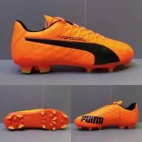 Sepatu Bola Puma Evospeed SL Oren list Hitam Grade Ori