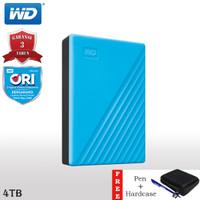 WD My Passport HDD / Hardisk Eksternal 4TB USB3.2 + Hardcase + Pen