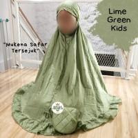 Mukena Anak Parasut Royale Premium Lime Green