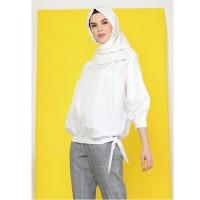 KNW Off White Preva Top - Atasan Muslim Wanita