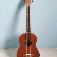 ukulele tenor ukir cowboy original ukuran 25 inch coklat tua murah