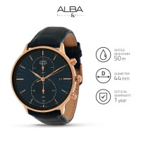 Jam Tangan Pria Alba Prestige Quartz Leather AW4010 Original
