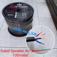 kabel speaker isi 4 crimson 4 x 1.5mm 100 meter
