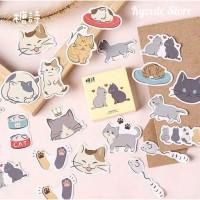 Sticker Deco 45 pcs Cat Life Scrapbook DIY Bujo Planner Diart Journal