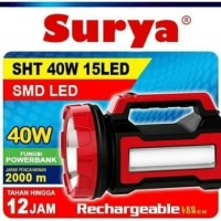 Senter lampu LED Surya SHT 40W 15LED JUMBO