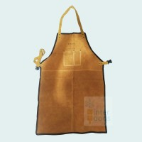 Apron kulit tebal dengan benang kevlar / Heavy duty leather apron