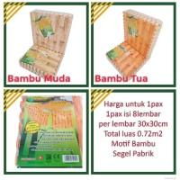 Evamat Bambu Matras / Tikar / Karpet / Puzzle Alas Lantai - Bambu Muda