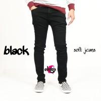 Celana Jeans Panjang Stretch/Melar Pria Hitam