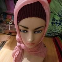 jilbab segi empat pisket motif