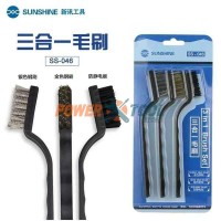 Wire Brush Set 3 in 1 Nylon Brass Stainless Steel (SS-046)