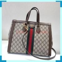 Tas Wanita Gucci Top Handle Monogram Original Leather