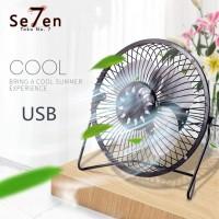 Kipas Angin USB Bahan Besi USB Mini Fan Merek Yazuho A18 - Hitam