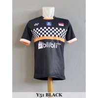 Baju Olahraga Kaos Badminton Jersey Bulutangkis Y51 Black