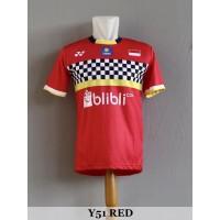Baju Olahraga Kaos Badminton Jersey Bulutangkis Y51 Red