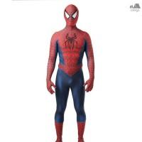 Kostum Cosplay Halloween Bentuk Superhero Spiderman 3D untuk Pria