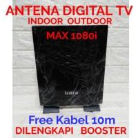ANTENA DIGITAL TV INDOOR OUTDOOR INTRA INT-118 FREE KABEL 10M