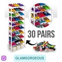 Rak Sepatu Susun Plastik 10 Tingkat RS014 Mudah Praktis Murah