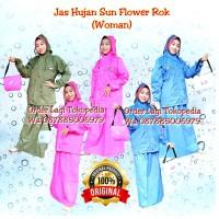 JAS HUJAN SUN FLOWER M,L,XL MODEL ROK SUNFLOWER BUKAN EDELWEISS
