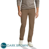 Celana Chino Slim Fit - Celana Panjang Pria Premium Dark Brown