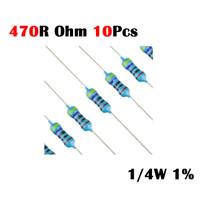Resistor 470R Ohm 470 R 470R Ohm 1/4W 1% Metal film 10x 10 pcs
