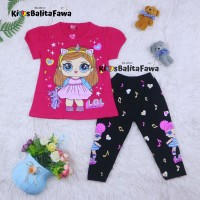 Setelan LOL uk 3-4 tahun / Baju Anak Karakter Perempuan Import