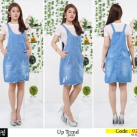 Overall Jumpsuit Rok Jeans Knee 27-30 (Up) - Blue, 27