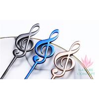 Sendok Unik Musical Note Sendok Anak Teh Kopi Gift SILVER - Rose Gold