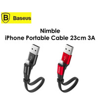 BASEUS Nimble Kabel Data Pendek iPhone USB Lightning Fast Charge 23cm