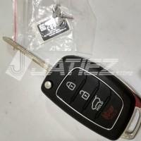 Rumah Casing Kunci Remote Mobil Flip 4 Tombol Plastik Warna Hitam Untu