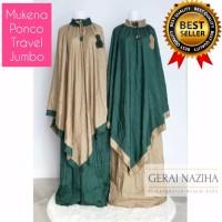 Mukena Parasut Jumbo Dewasa Ponco Travel Pocong Traveling Elegan