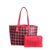 Original COACH Reversible City Tote With Gingham Print 2