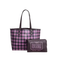 Original COACH Reversible City Tote With Gingham Print 3