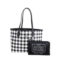 Original COACH Reversible City Tote With Gingham Print 1