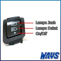 [L078] Saklar Switch On Off Dim Dimmer Lampu Motor Honda