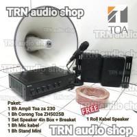Paket TOA SOUND SYSTEM AMPLI + Corong TOA + Speaker dalam