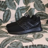 promo sepatu pria adidas Ultraboost full black running sport