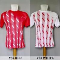 Kaos Badminton / Bulutangkis V32 (Baju Kaos Jersey Olahraga)