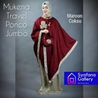 Mukena Parasut Ponco Traveling Pocong Travel Dewasa Jumbo Elegant