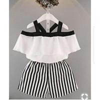 set sisyl layer sabrina fashion anak stelan baju anak